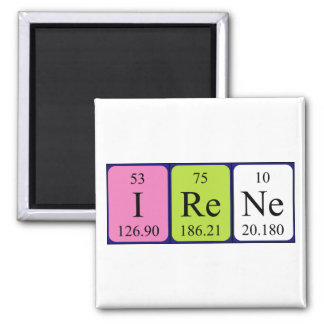 Irene periodic table name magnet