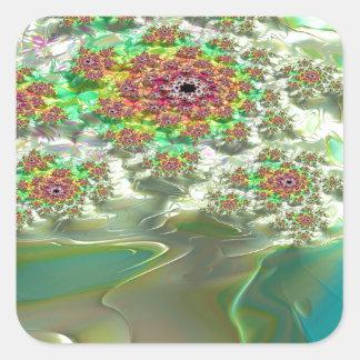 Irenic Abjurer Fractal 14 Square Sticker