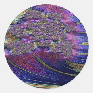 Irenic Abjurer Fractal 5 Classic Round Sticker