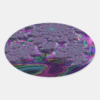 Irenic Abjurer Fractal 7 Oval Sticker
