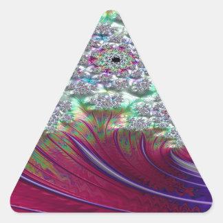 Irenic Abjurer Fractal Triangle Sticker
