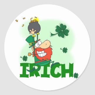 Irich St. Patrick's Day Tshirts and Gifts Round Stickers