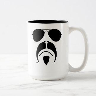 iRide Aviator Sunglasses Vector Graphics Coffee Mu Two-Tone Mug