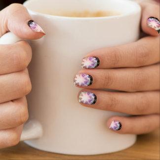 Iridescence Pink Lavender Compass Rhinestone Minx Nail Art