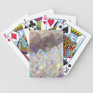 Iridescent Aura Crystals Bicycle Playing Cards