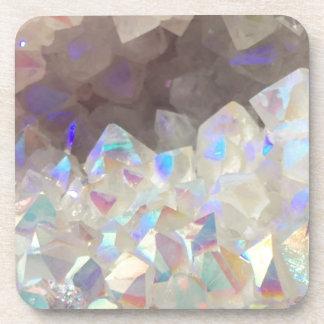Iridescent Aura Crystals Coaster