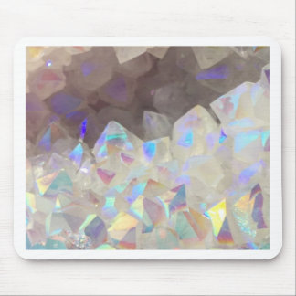 Iridescent Aura Crystals Mouse Pad