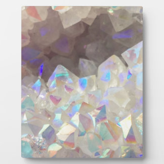 Iridescent Aura Crystals Plaque