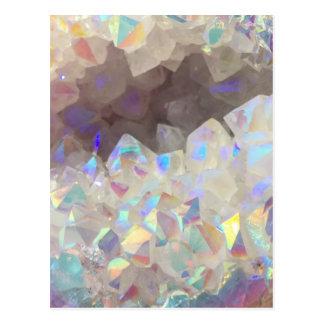 Iridescent Aura Crystals Postcard