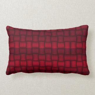 Iridescent Blocks (Red) Lumbar Pillow