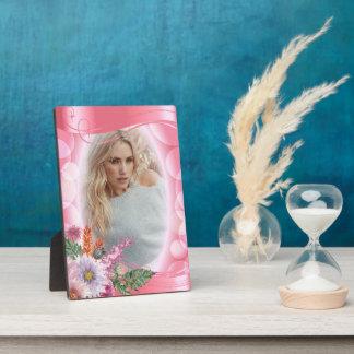 Iridescent Bokeh PInk & Pretty Flowers - DIY Photo Plaque