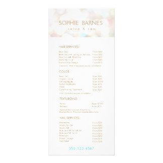 Iridescent Bokek Salon Price List Service Menu