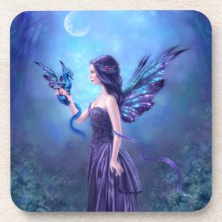 Iridescent Fairy & Dragon Art Coasters - Set of 6