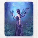 Iridescent Fairy & Dragon Art Mousepad