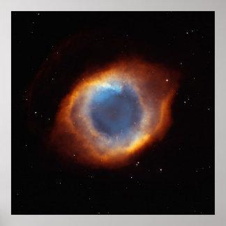 Iridescent Glory of Nearby Helix Nebula Poster