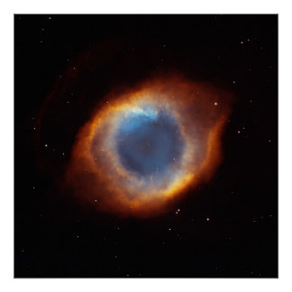 Iridescent Glory of Nearby Helix Nebula Poster