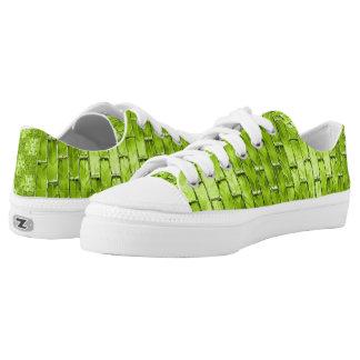 Iridescent Green Bricks Low Tops