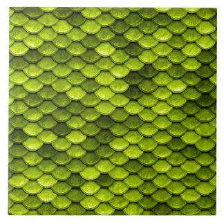 Iridescent Green Glitter Mermaid Fish Scales Tile