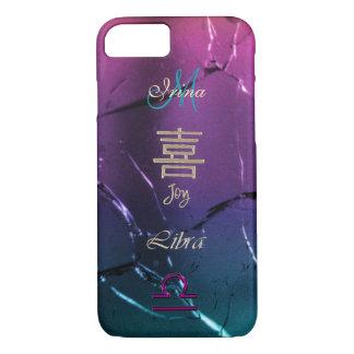 Iridescent Joy Monogram Libra iPhone 7 Case