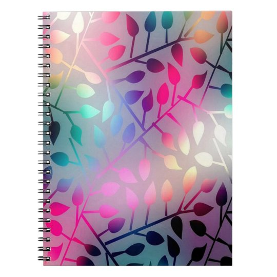 Iridescent Leaves Notebooks