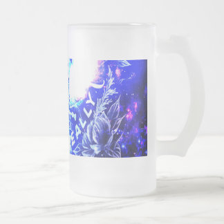 Iridescent Parisian Dreams of th Ones that Love Us Frosted Glass Beer Mug