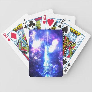Iridescent Parisian Sky Bicycle Playing Cards