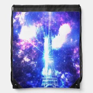 Iridescent Parisian Sky Drawstring Bag