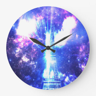 Iridescent Parisian Sky Large Clock