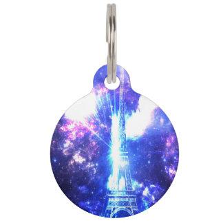 Iridescent Parisian Sky Pet Name Tag