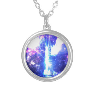 Iridescent Parisian Sky Silver Plated Necklace