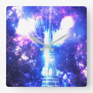 Iridescent Parisian Sky Square Wall Clock