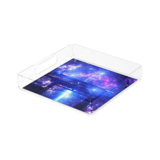 Iridescent Pathway to Anywhere Acrylic Tray