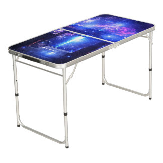Iridescent Pathway to Anywhere Beer Pong Table