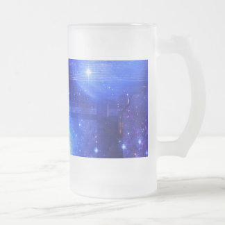 Iridescent Pathway to Anywhere Frosted Glass Beer Mug