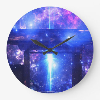 Iridescent Pathway to Anywhere Large Clock