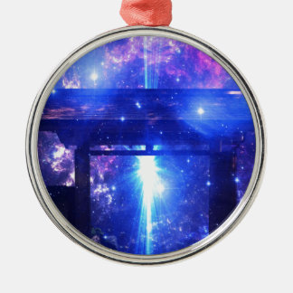 Iridescent Pathway to Anywhere Metal Ornament