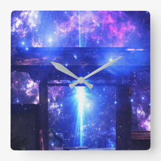 Iridescent Pathway to Anywhere Square Wall Clock