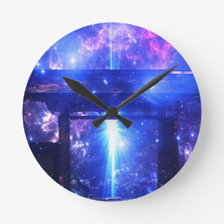 Iridescent Pathway to Anywhere Wallclocks