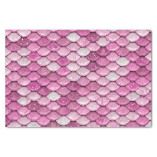 Iridescent Pink Glitter Shiny Mermaid Fish Scales Tissue Paper
