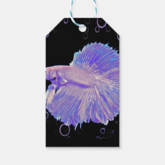Iridescent Purple Fighting Fish Gift Tags