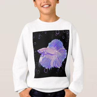 Iridescent Purple Fighting Fish Sweatshirt