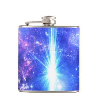 Iridescent Skies Hip Flask