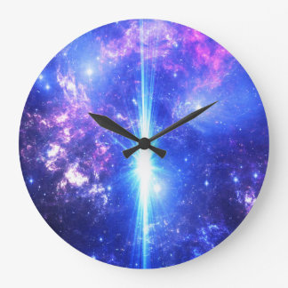 Iridescent Skies Large Clock