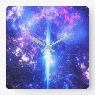 Iridescent Skies Square Wall Clock