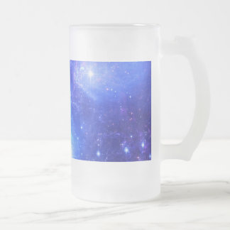 Iridescent Sky Frosted Glass Beer Mug