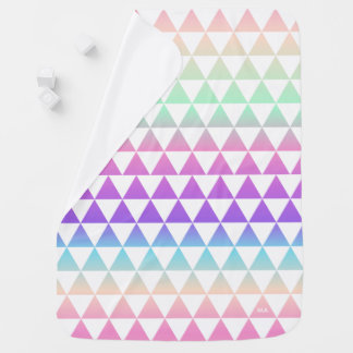 Iridescent Triangles Pattern Monogram Baby Blanket