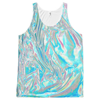 Iridescent Unisex Tank Top All-Over Print Tank Top