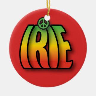 IRIE Peace Ceramic Ornament