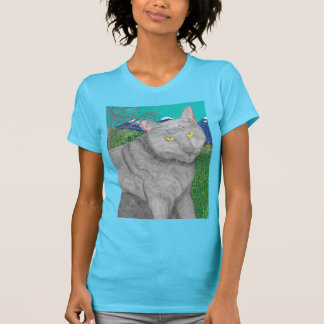 Irina The Cat And The View of Mount Baldy Shirt