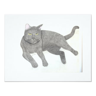 Irina The Cat Cards by Julia Hanna 11 Cm X 14 Cm Invitation Card